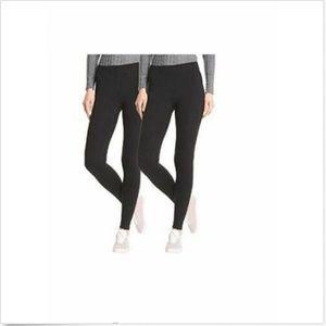 Hue Women Perfect Fit Cotton Leggings 2 pk Black S